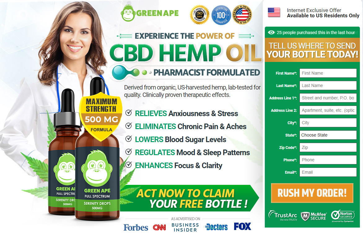 Green Ape CBD Oil Review – Ingredients, Side Effects, & Where To Buy?
